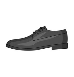 mens leather shiny shoes with laces shoes to wear vector image