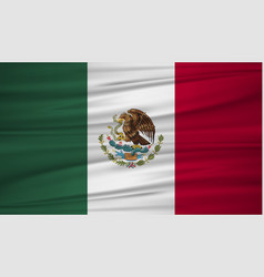 mexico flag flag of mexico blowig in the wind vector image