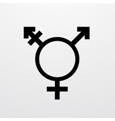 Modern transgender symbol on white vector