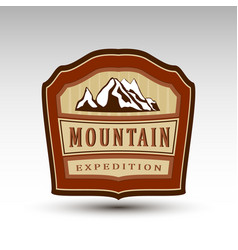 mountain expedition logo vector image