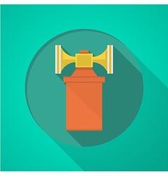Orange air horn flat icon vector image