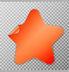 orange star peel off paper vector image