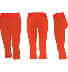 Orange three quarters pants vector