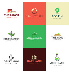 Pack agronomics logo vector