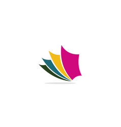 paper colorful logo vector image