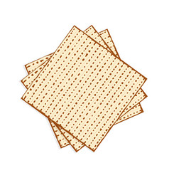 Passover matzah unleavened bread vector