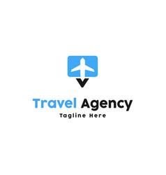 plane logo design inspiration vector image