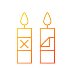 Remove candle packaging before use gradient vector