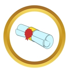 Roll of paper icon vector image