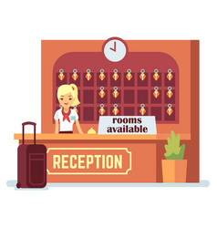 rooms available cartoon vector image