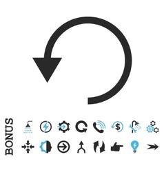 Rotate Ccw Flat Icon With Bonus vector image