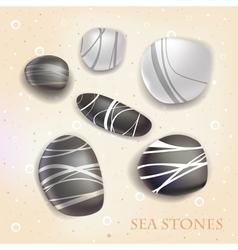 Sea stones vector