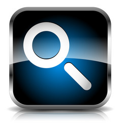 seach icon with magnifying glass revision vector image