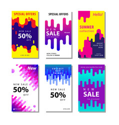 Set sale banner background with dynamic rounded vector