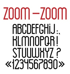 Simple black font numbers and punctuation marks vector