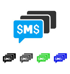 Sms messages flat icon vector