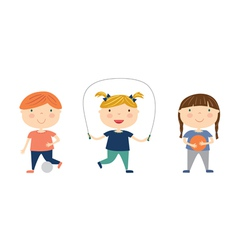 Sport kids isolated vector