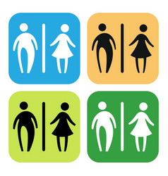 Toilet sign set vector