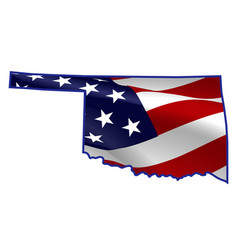 united states oklahoma full american flag map vector image