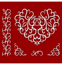 Valentines day pattern with heart vector