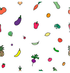 vegetables print seamless pattern vector image
