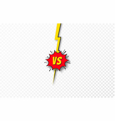 versus background vs letters concept battle vector image