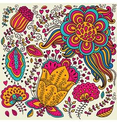 Vivid floral design vector