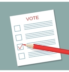 Voting concept picture vector image