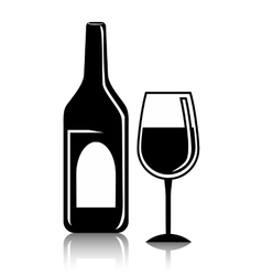 wine and restaurant icon design vector image