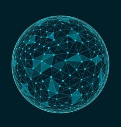 abstract geometric polygonal shape vector image vector image