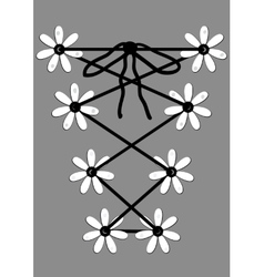 Daisy in lace - vector image