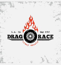 drag race label vector image vector image
