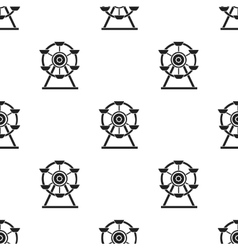 Ferris wheel icon in black style isolated on white vector image