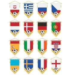 football flag pennants vector image