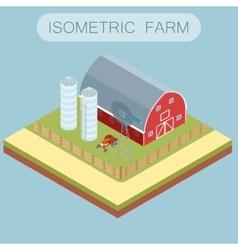 Isometric farm banner vector image