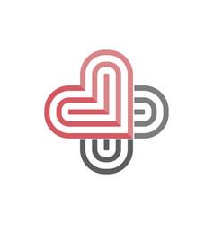 Logo two hearts nestled so similar to the vector