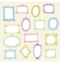 Set of hand drawn frames Hand drawn design vector image vector image