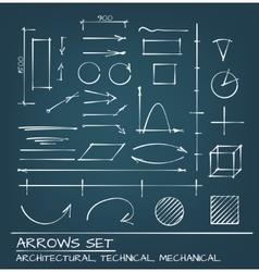 Arrows Hand Drawn Set vector image vector image