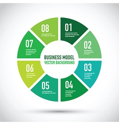 business model set vector image vector image