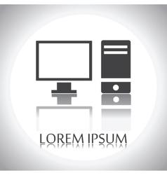 computer logo vector image