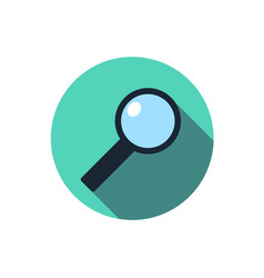 flat magnifying glass icon question with a long vector image