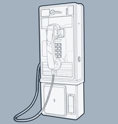 public phone line vector image vector image