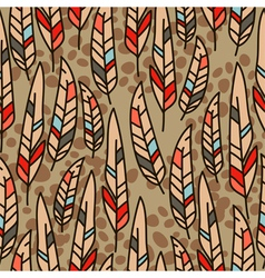 seamless texture with feathers vector image vector image