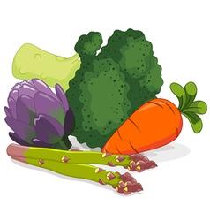 Set of vegetables vector image vector image
