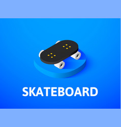 skateboard isometric icon isolated on color vector image