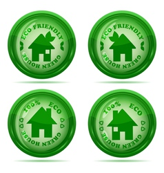 glossy house stamp vector image vector image
