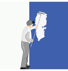 man painting vector image