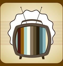 tv old design vector image