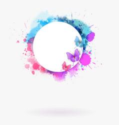 watercolor imitation multicolored background vector image vector image
