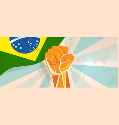 brazil fight and protest independence struggle vector image vector image